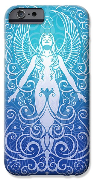 Gaia Digital iPhone Cases - Air Spirit v.2 iPhone Case by Cristina McAllister