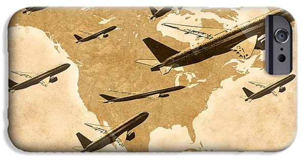 Multimedia iPhone Cases - Air Travel iPhone Case by Tina M Wenger