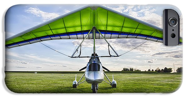 Flight iPhone Cases - Airborne XT-912 Microlight Trike iPhone Case by Adam Romanowicz