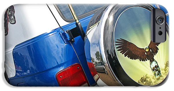 Airbrush Photographs iPhone Cases - Airbrushed Chevy Truck iPhone Case by Gill Billington