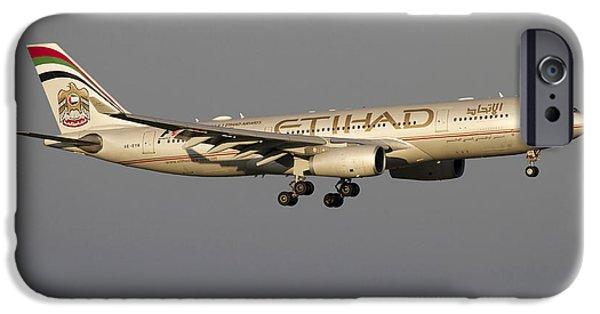 Airways Photographs iPhone Cases - Airbus 330-200 Of Etihad Airways iPhone Case by Luca Nicolotti