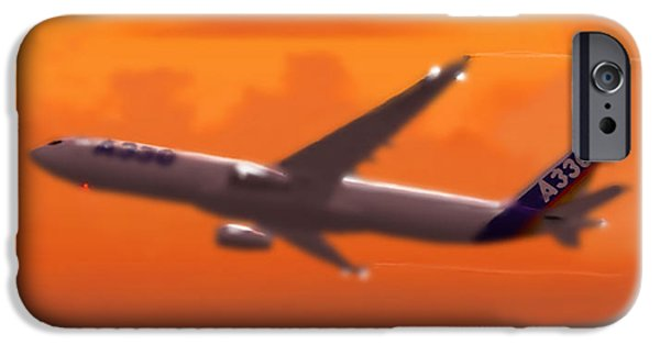 Dynamism iPhone Cases - Airbus 330 iPhone Case by Marcello Cicchini