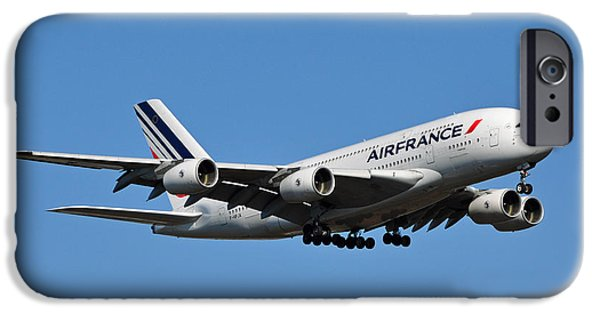 Flight iPhone Cases - Airbus A80 iPhone Case by Joe Ravi