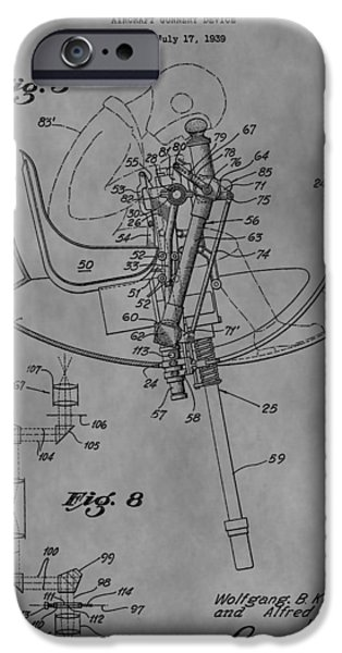 Weapon Drawings iPhone Cases - Aircraft Gunnery Device iPhone Case by Dan Sproul