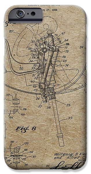 Weapon Mixed Media iPhone Cases - Aircraft Gunnery Device Patent iPhone Case by Dan Sproul