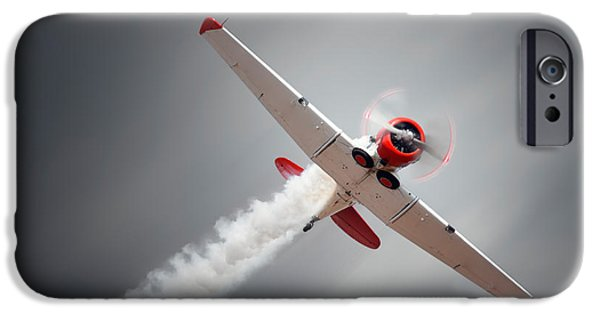 World War One Photographs iPhone Cases - Aircraft in flight iPhone Case by Johan Swanepoel