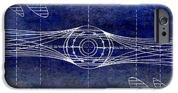 Ww1 iPhone Cases - Aircraft Propeller Blueprint iPhone Case by Jon Neidert