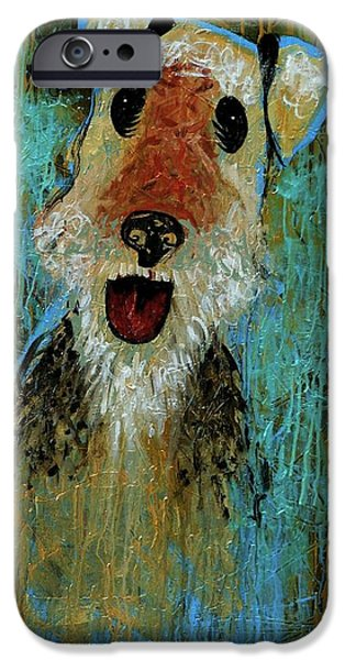 Genevieve Esson iPhone Cases - Airedale Terrier iPhone Case by Genevieve Esson