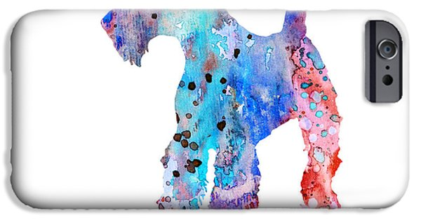 Terrier Art iPhone Cases - Airedale Terrier  iPhone Case by Luke and Slavi