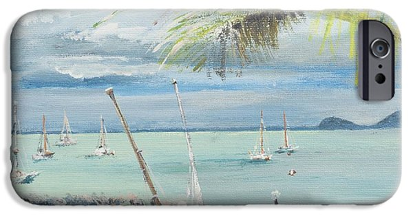Sharks Paintings iPhone Cases - Airlie Beach  Australia iPhone Case by Vincent Alexander Booth