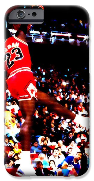 Carmelo Anthony iPhone Cases - Airness iPhone Case by Brian Reaves