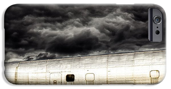 Turbulent Skies iPhone Cases - Airplane iPhone Case by Bob Orsillo
