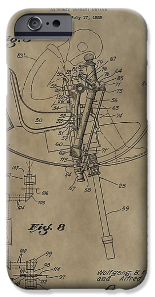 Weapon Mixed Media iPhone Cases - Airplane Gunnery Patent iPhone Case by Dan Sproul