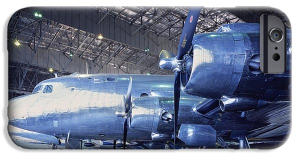 Airplanes Photographs iPhone Cases - Airplane Hanger iPhone Case by Jon Neidert
