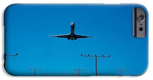 Approaching iPhone Cases - Airplane Landing Philadelphia iPhone Case by Panoramic Images