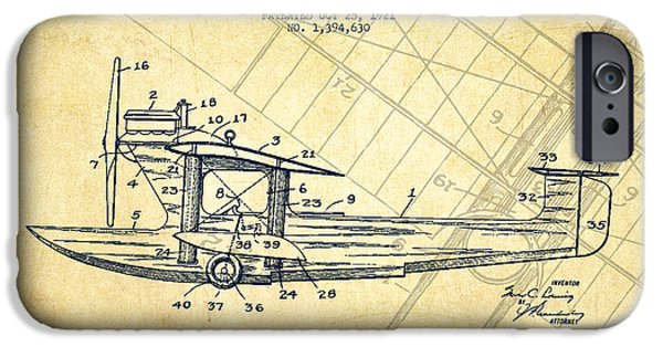 Flight iPhone Cases - Airplane Patent Drawing from 1921-Vintage iPhone Case by Aged Pixel