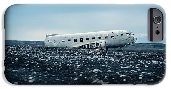 Recently Sold -  - Ruin iPhone Cases - Airplane Relic in Iceland iPhone Case by Mountain Dreams