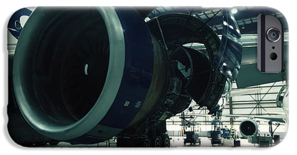 Industry iPhone Cases - Airplanes In A Hangar, Mirabel Airport iPhone Case by Panoramic Images