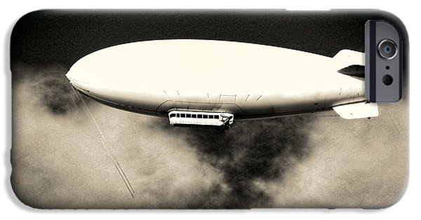 Flight iPhone Cases - Airship iPhone Case by Olivier Le Queinec