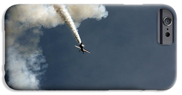 Aviation Pyrography iPhone Cases - Airshow iPhone Case by Steve Ball