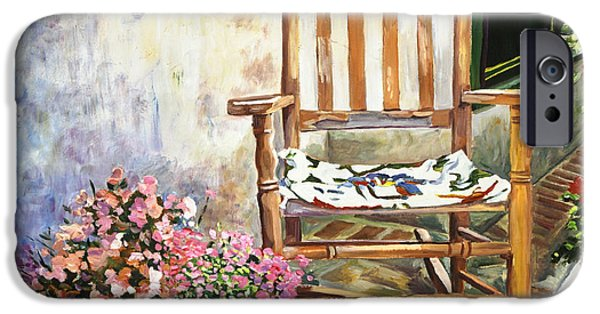 Terra Paintings iPhone Cases - Aix Country Patio iPhone Case by David Lloyd Glover