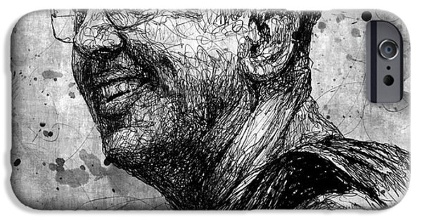 Buddhism Drawings iPhone Cases - Ajahn Brahm iPhone Case by Michael  Volpicelli