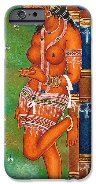 Hindu Goddess iPhone Cases - Counting iPhone Case by Art Tantra