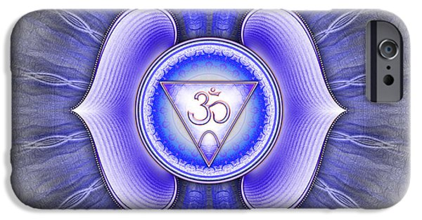 Healing Posters iPhone Cases - Ajna Chakra Series IV iPhone Case by Dirk Czarnota