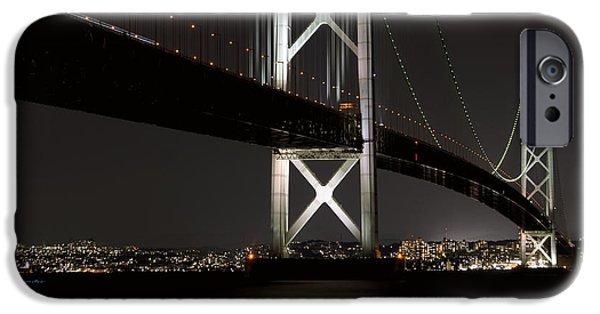 Kobe Photographs iPhone Cases - Akashi Kaikyo Bridge Japan iPhone Case by Daniel Hagerman