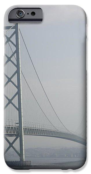 Kobe Photographs iPhone Cases - AKASHI KAIKYO SUSPENSION BRIDGE of JAPAN iPhone Case by Daniel Hagerman