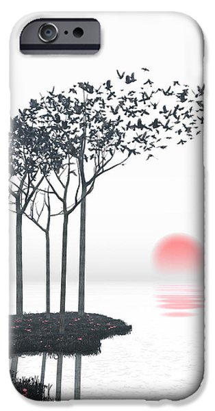 Landscapes Digital Art iPhone Cases - Aki iPhone Case by Cynthia Decker