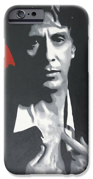 Oliver Stone iPhone Cases - Al Pacino 2013 iPhone Case by Luis Ludzska