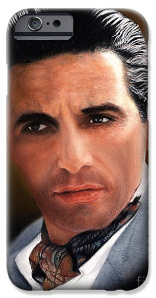 Al Pacino iPhone Cases - Al Pacino as Godfather II iPhone Case by John  Palmer