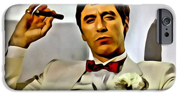 Al Pacino Photographs iPhone Cases - Al Pacino iPhone Case by Florian Rodarte