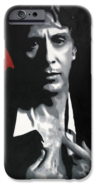 Tom Hagen iPhone Cases - Al Pacino  iPhone Case by Luis Ludzska