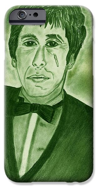 Al Pacino Drawings iPhone Cases - Al Pacino iPhone Case by Nicole Burrell