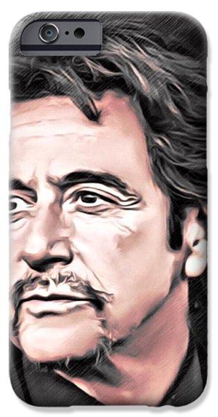Al Pacino iPhone Cases - Al Pacino Portrait iPhone Case by Scott Wallace