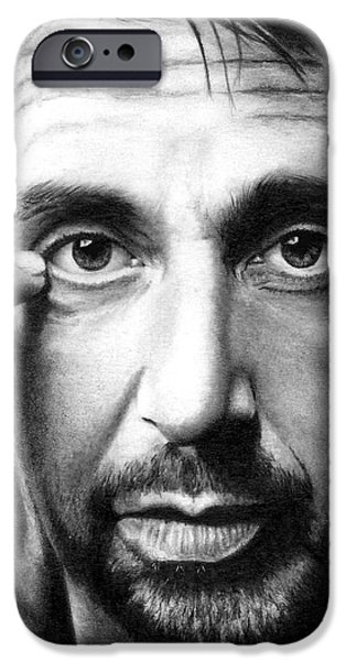 Al Pacino iPhone Cases - Al Pacino iPhone Case by Rick Fortson