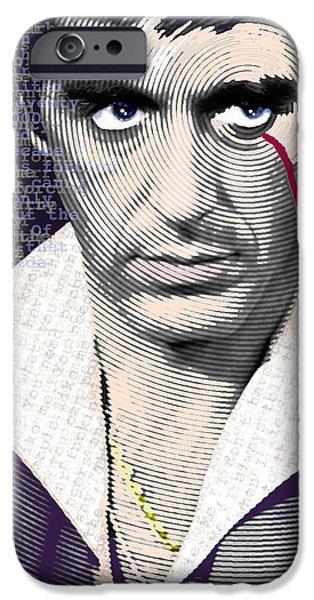 Al Pacino iPhone Cases - Al Pacino Scarface iPhone Case by Tony Rubino