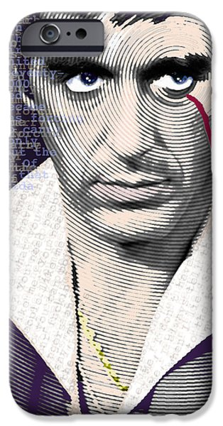 Scarface iPhone Cases - Al Pacino Scarface iPhone Case by Tony Rubino