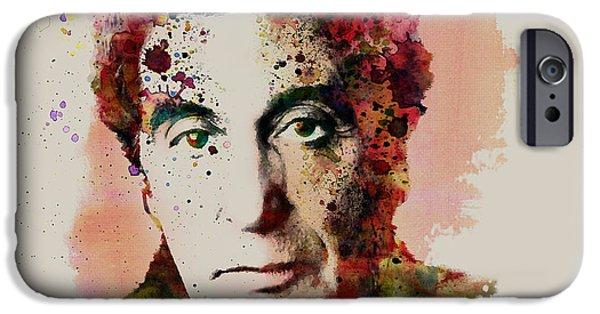 Al Pacino Mixed Media iPhone Cases - Al Pacino watercolor iPhone Case by Marian Voicu