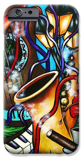 Recently Sold -  - Piano iPhone Cases - Al Ritmo The Carnaval iPhone Case by Annie Maxwell