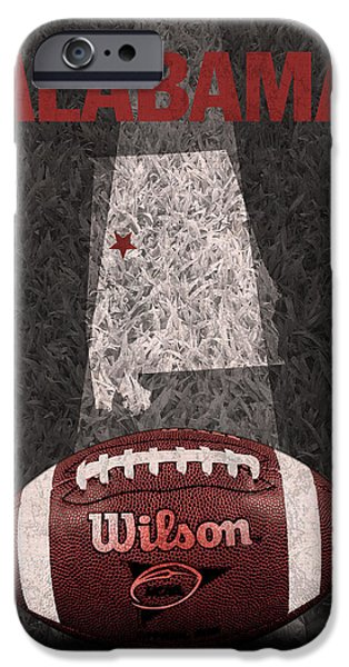 Tuscaloosa iPhone Cases - Alabama Football Map Poster iPhone Case by Design Turnpike