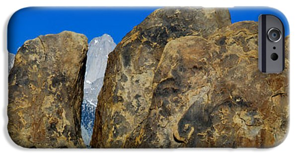 Mountain iPhone Cases - Alabama Hills In Sierra Nevada iPhone Case by Panoramic Images