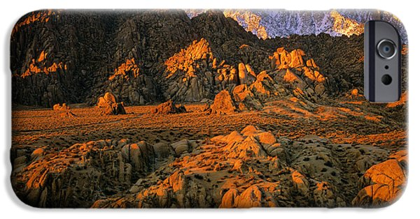 Red Rock iPhone Cases - Alabama Hills iPhone Case by Inge Johnsson