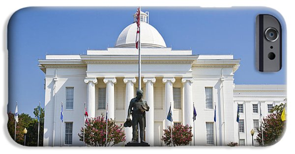Police Officer Photographs iPhone Cases - Alabama state capitol building iPhone Case by Ohad Shahar