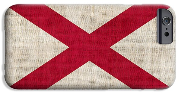 Declaration Of Independence Digital iPhone Cases - Alabama State flag iPhone Case by Pixel Chimp