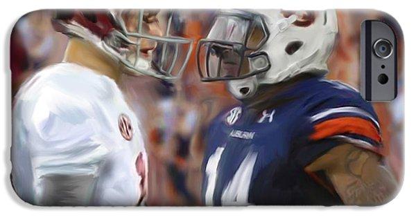 University Of Alabama iPhone Cases - Alabama vs Auburn iPhone Case by Mark Spears