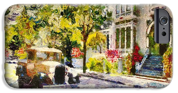 Franklin iPhone Cases - Alameda  Afternoon Drive iPhone Case by Linda Weinstock