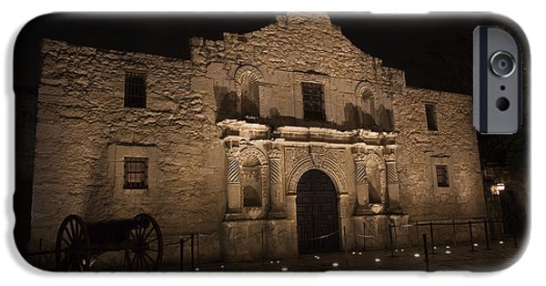 Historic Site iPhone Cases - Alamo Mission in San Antonio iPhone Case by John Stephens